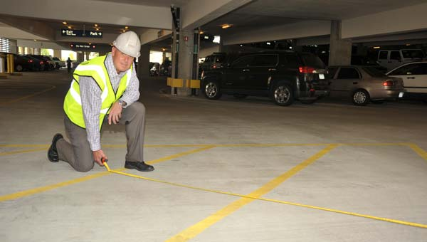 Condition testing parking garages