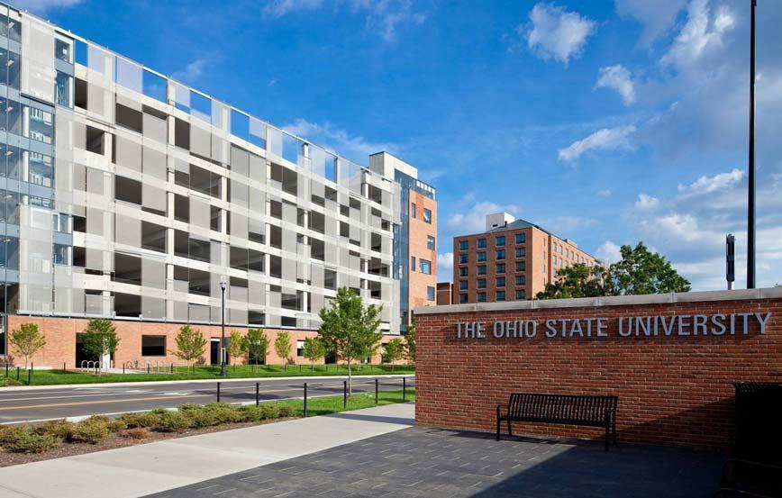 Ohio State University Lane Ave. Commercial Parking Garage Design