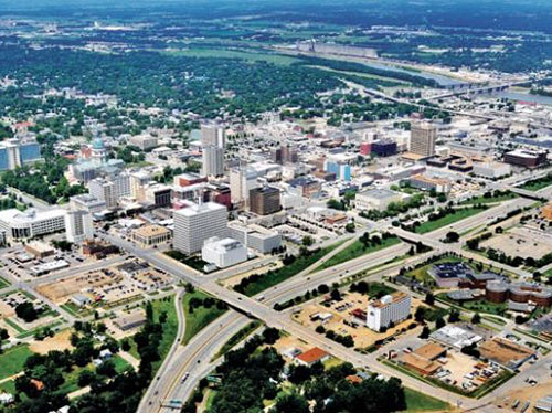 Topeka Kansas Aerial Shot